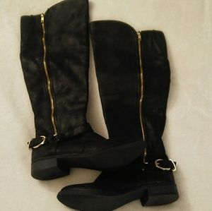 : : cute moto boots with buckle/zip detail : :